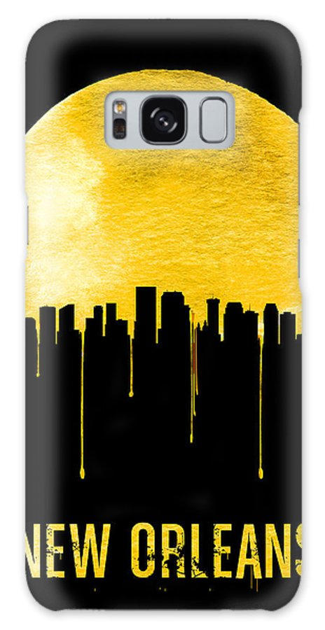 New Orleans Galaxy Case featuring the painting New Orleans Skyline Yellow by Naxart Studio