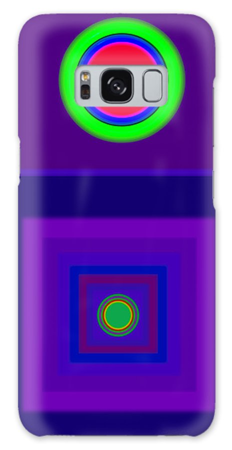 Classical Galaxy S8 Case featuring the digital art New Violet by Charles Stuart