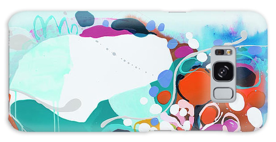 Abstract Galaxy S8 Case featuring the painting New Ways by Claire Desjardins