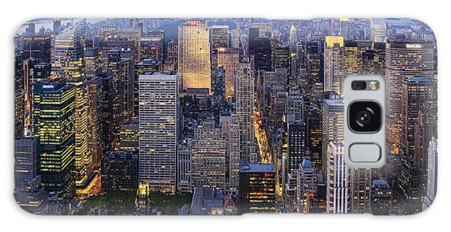 New York City Galaxy S8 Case featuring the photograph New York At Night by Kelley King
