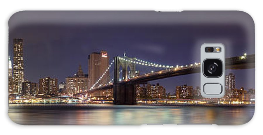 New York City Galaxy S8 Case featuring the photograph New York City - Manhattan Waterfront At Night by Thomas Richter