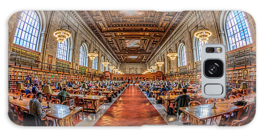 Clarence Holmes Galaxy S8 Case featuring the photograph New York Public Library Main Reading Room I by Clarence Holmes