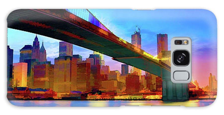 America Galaxy S8 Case featuring the digital art New York Skyline 11 by Garland Johnson