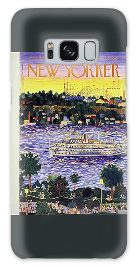 Riverboat Galaxy Case featuring the painting New Yorker August 31 1957 by Ilonka Karasz