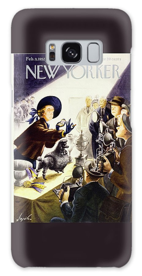 Illustration Galaxy Case featuring the painting New Yorker February 9 1952 by Constantin Alajalov