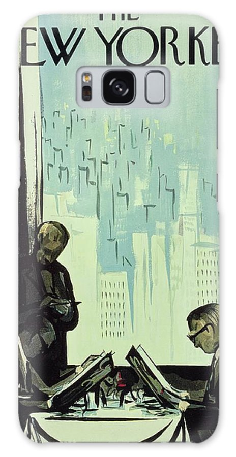 Illustration Galaxy S8 Case featuring the drawing New Yorker January 16 1960 by Arthur Getz
