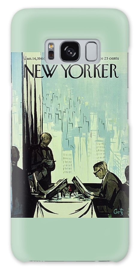 Illustration Galaxy S8 Case featuring the painting New Yorker January 16 1960 by Arthur Getz