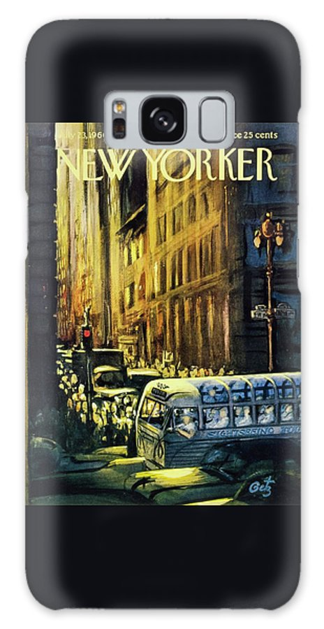 Illustration Galaxy S8 Case featuring the painting New Yorker July 23 1960 by Arthur Getz