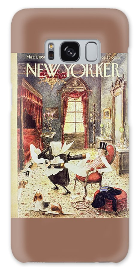 Maid Galaxy S8 Case featuring the painting New Yorker March 1 1958 by Mary Petty