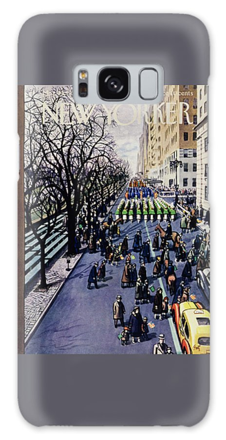 Parade Galaxy S8 Case featuring the drawing New Yorker March 14 1953 by Arthur Getz