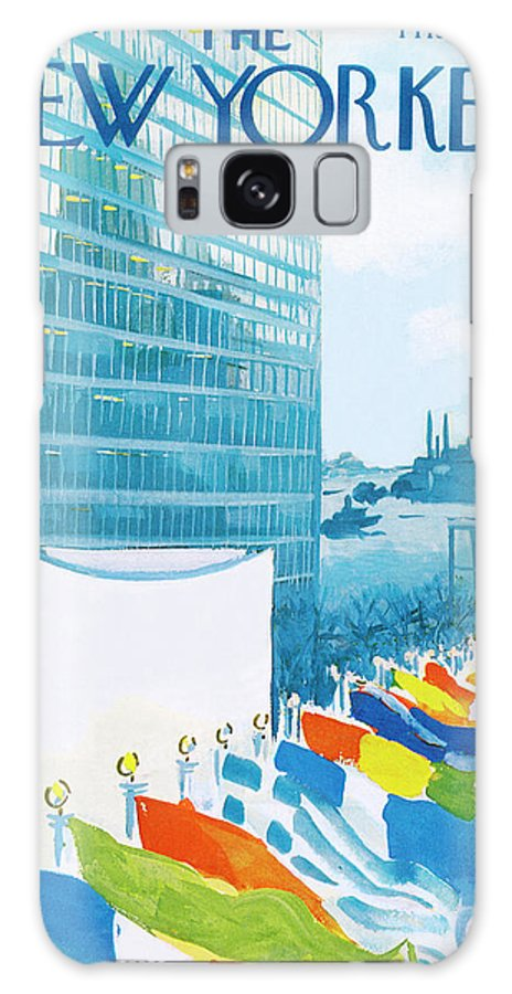 Urban Galaxy S8 Case featuring the painting New Yorker November 14th, 1964 by Arthur Getz