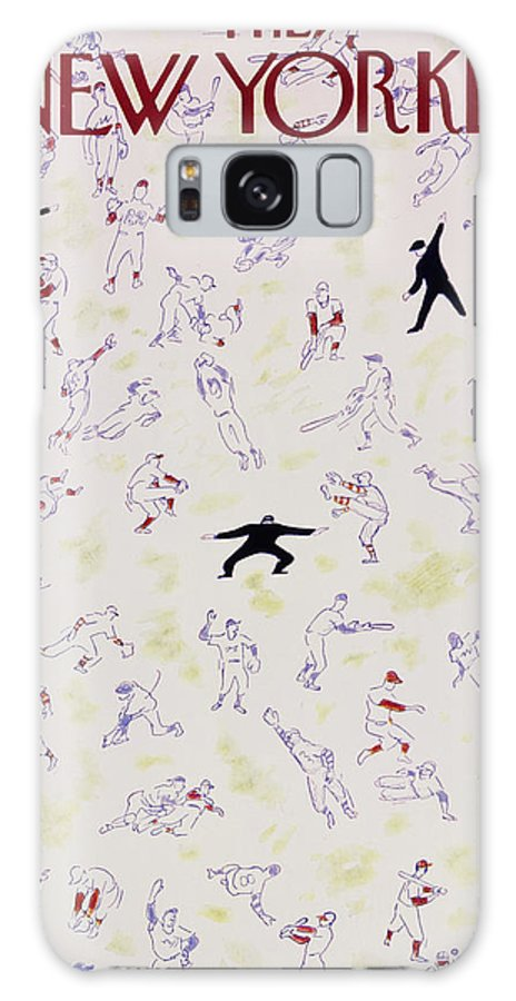 Baseball Galaxy S8 Case featuring the painting New Yorker October 1 1955 by Garrett Price