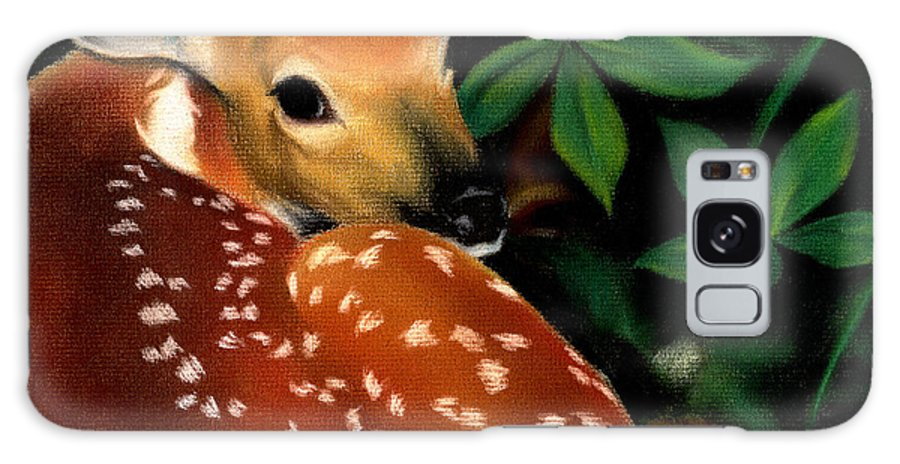 Fawn Galaxy S8 Case featuring the drawing Newborn by Anna Katherine