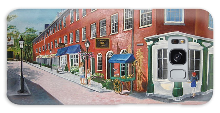 Mcgrath Galaxy S8 Case featuring the painting Newburyport Ma by Leslie Alfred McGrath