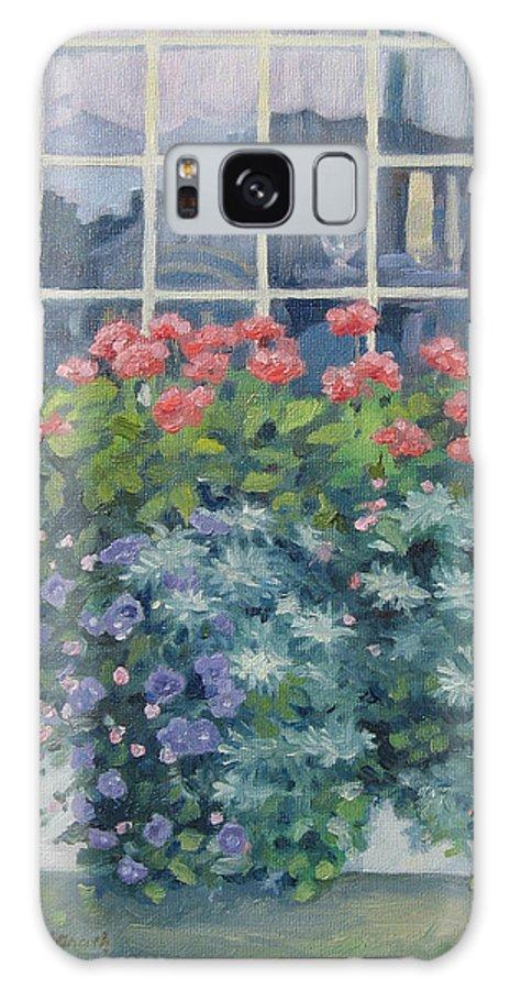 Leslie Mcgrath Galaxy S8 Case featuring the painting Newburyport Window by Leslie Alfred McGrath