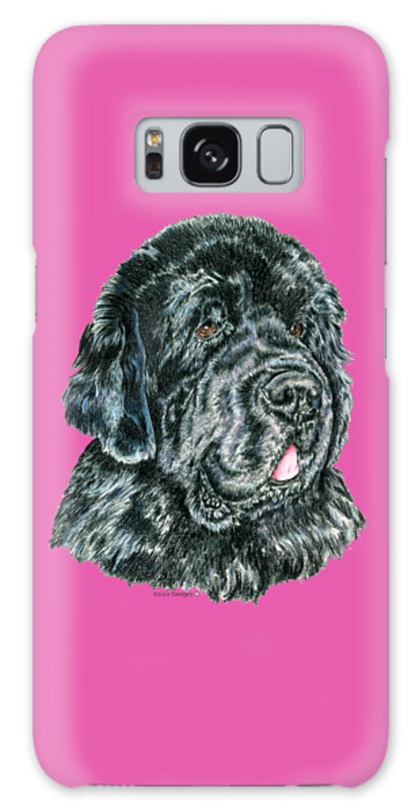 Newfoundland Galaxy Case featuring the drawing Newfoundland by Kathleen Sepulveda