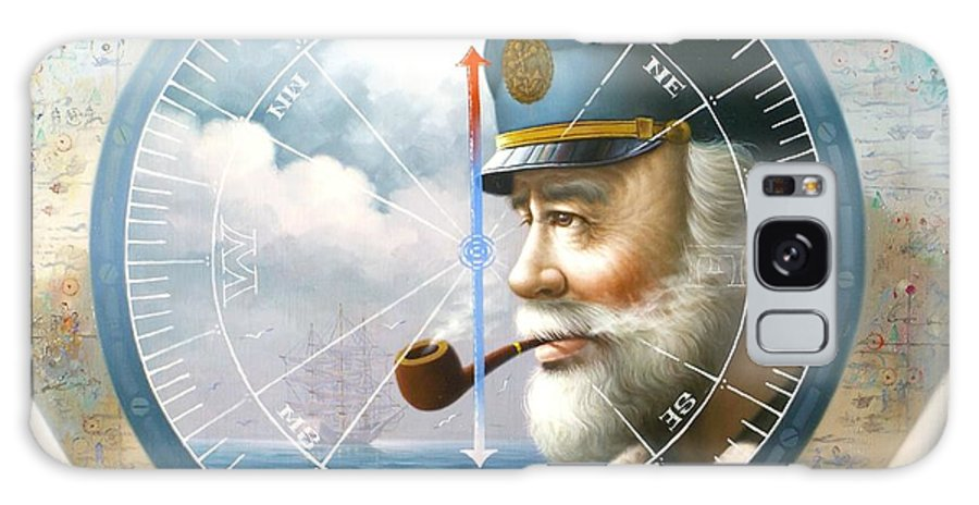 Sea Captain Galaxy S8 Case featuring the painting News Map Captain Or Sea Captain by Yoo Choong Yeul