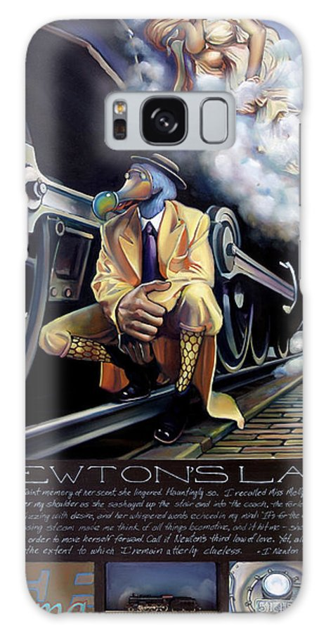 Locomotive Galaxy S8 Case featuring the painting Newton's Law by Patrick Anthony Pierson