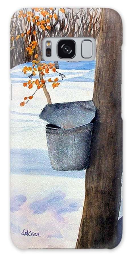 Sap Bucket. Maple Sugaring Galaxy S8 Case featuring the painting Nh Goldmine by Sharon E Allen