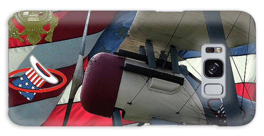 Nieuport 28c Galaxy S8 Case featuring the digital art Nieuport 28c Hat In The Ring by Tommy Anderson