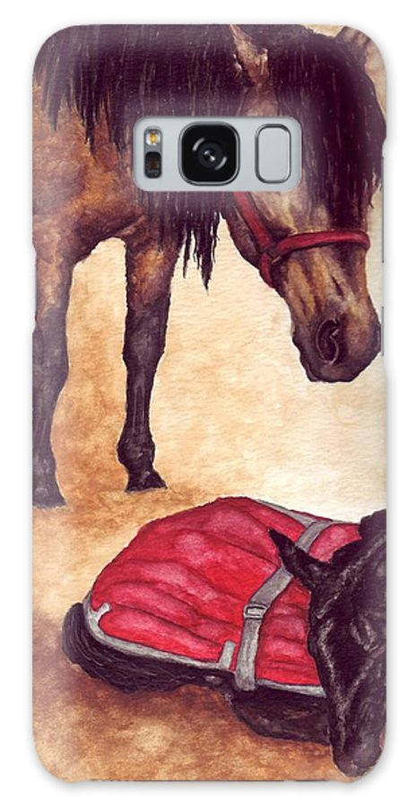 Horse Galaxy S8 Case featuring the painting Nifty And Hannah by Kristen Wesch