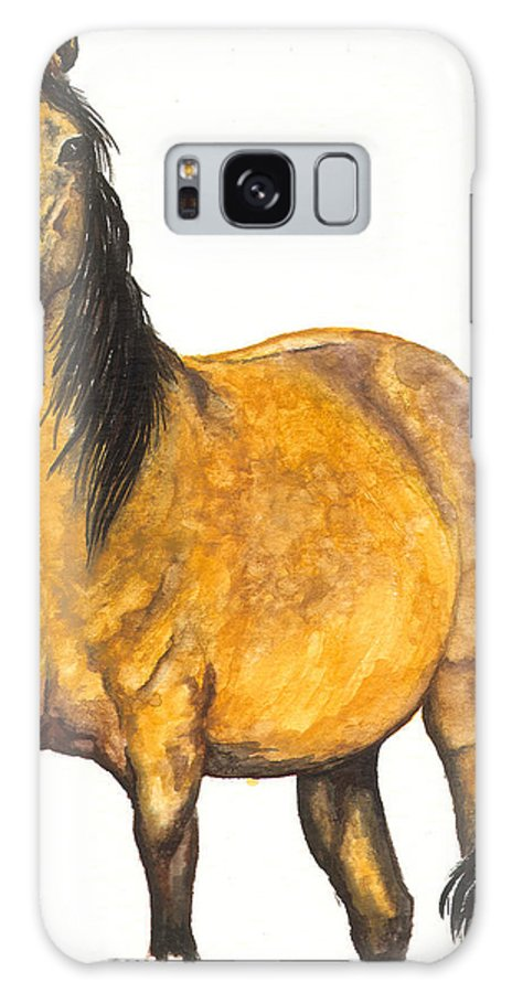 Horse Galaxy S8 Case featuring the painting Nifty by Kristen Wesch