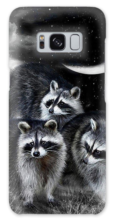 Raccoon Galaxy S8 Case featuring the mixed media Night Bandits by Carol Cavalaris
