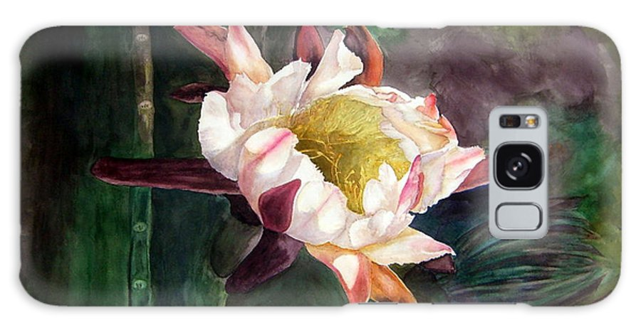 Night Bloom Cereus Galaxy S8 Case featuring the painting Night Blooming Cereus by Sharon Mick