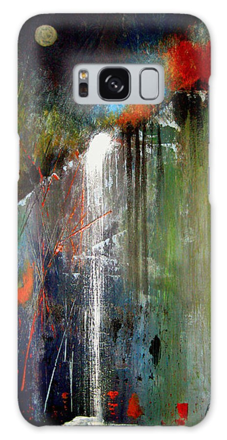Abstract Galaxy S8 Case featuring the painting Night Falls by Ruth Palmer