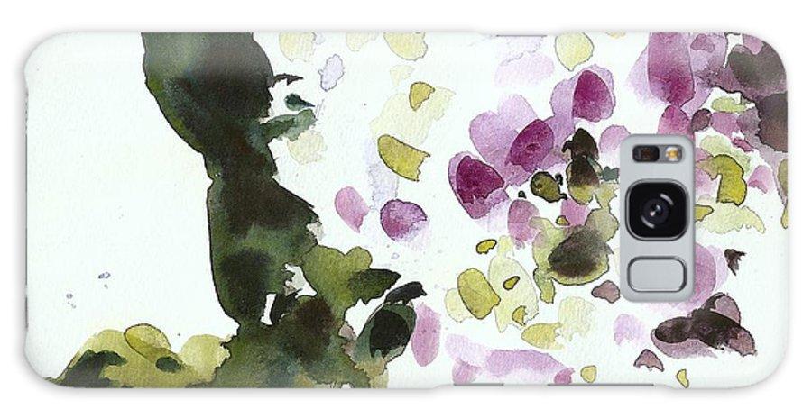 Watercolor Galaxy S8 Case featuring the painting Night Geraniums by C'est La Viv
