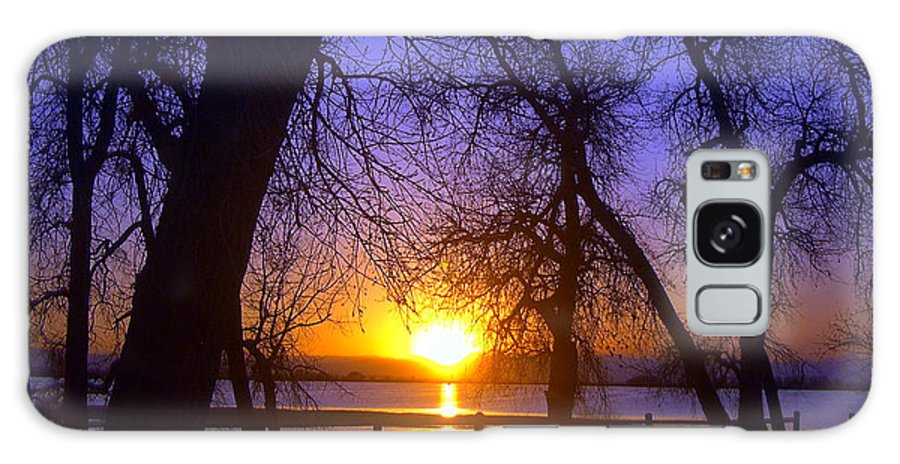 Barr Lake Galaxy S8 Case featuring the photograph Night In Barr Lake Colorado by Merja Waters