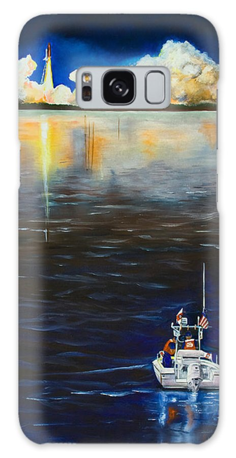 Coast Guard Galaxy S8 Case featuring the painting Night Launch by Dorothy Riley
