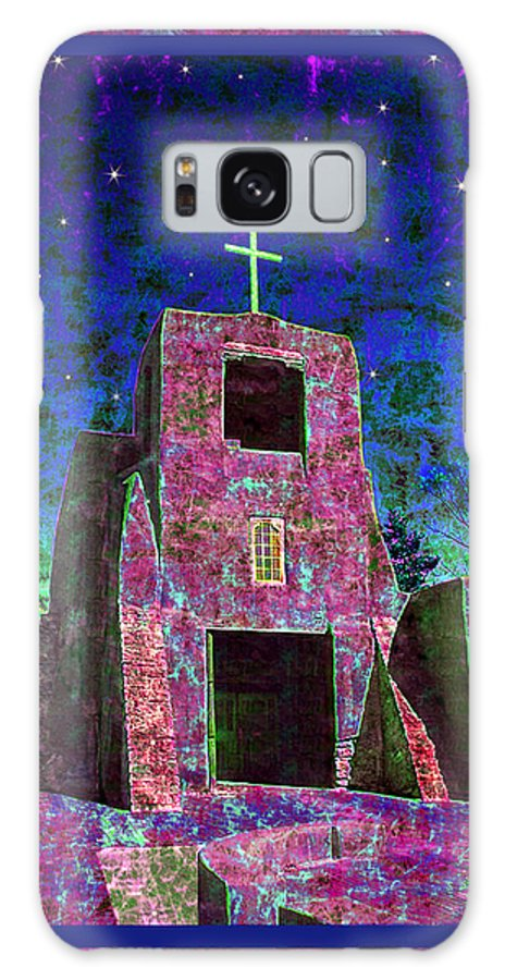 Mission Galaxy S8 Case featuring the photograph Night Magic San Miguel Mission by Kurt Van Wagner
