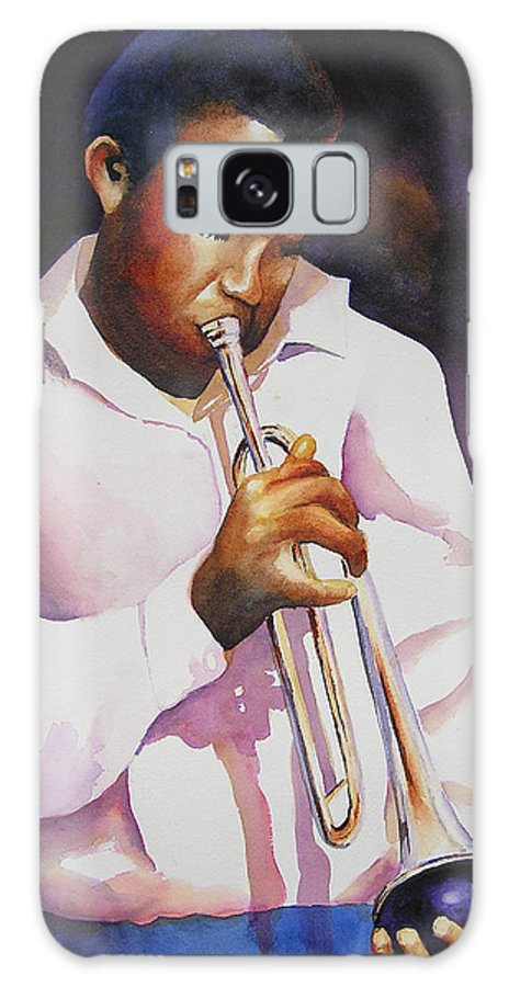 Trumpet Galaxy S8 Case featuring the painting Night Music by Karen Stark