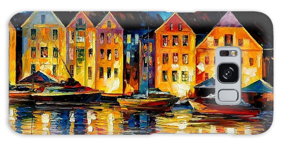 City Galaxy S8 Case featuring the painting Night Resting Original Oil Painting by Leonid Afremov