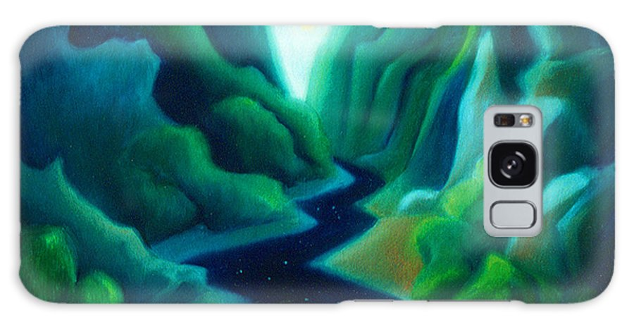 Dreams Galaxy S8 Case featuring the painting Night River by Angela Treat Lyon