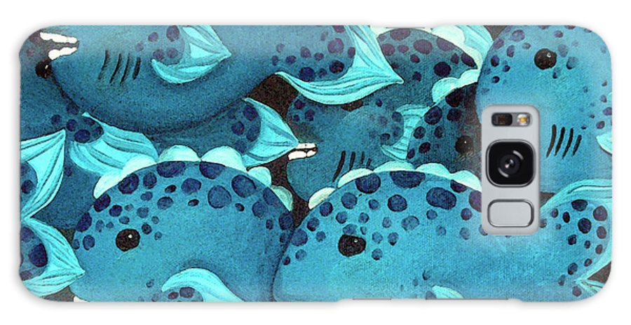 Ocean Galaxy S8 Case featuring the painting Night School by Susan Clausen