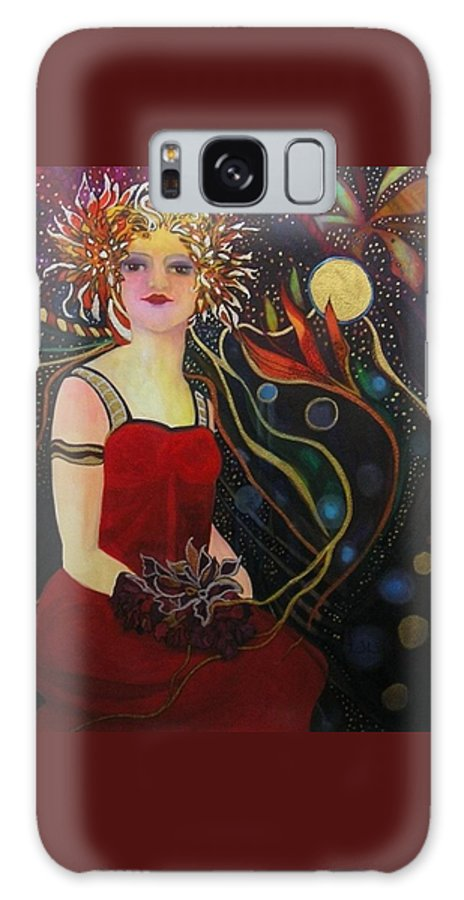 Fairies Galaxy Case featuring the painting Night Sprite by Carolyn LeGrand