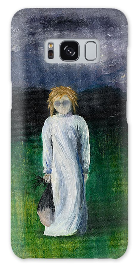 Girl Galaxy S8 Case featuring the painting Night Walk by Break The Silhouette