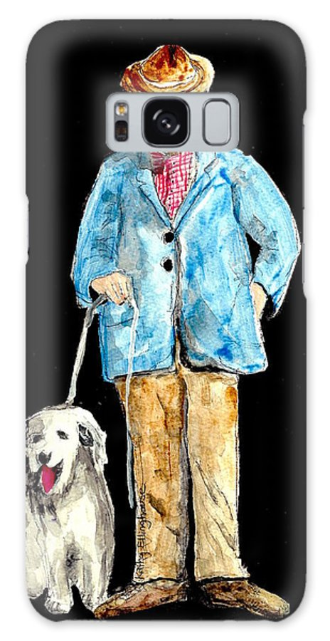 Man Galaxy S8 Case featuring the painting Night Walker by Kathy Ellinghouse