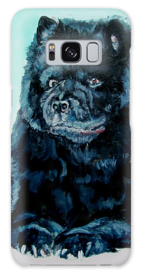 Dog Galaxy Case featuring the painting Nikki The Chow by Bryan Bustard