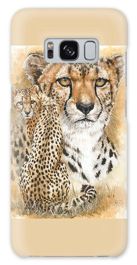 Cheetah Galaxy S8 Case featuring the mixed media Nimble by Barbara Keith