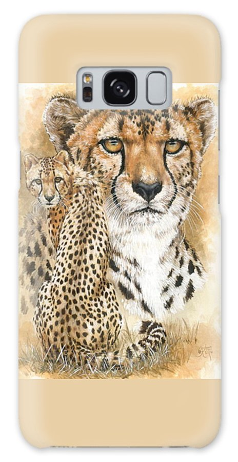 Cheetah Galaxy S8 Case featuring the mixed media Nimble by Barbara Keith