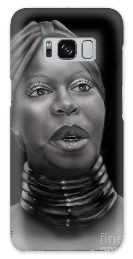 Nina Simone Galaxy S8 Case featuring the painting Nina Simone-revolution by Reggie Duffie