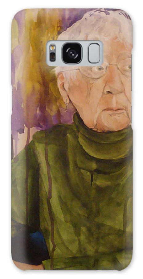Portrait Galaxy S8 Case featuring the painting Ninety Years Young by Jean Blackmer