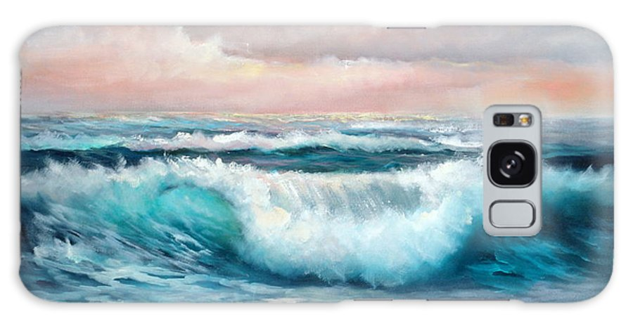 Surf Galaxy S8 Case featuring the painting Ninth Wave by Sally Seago