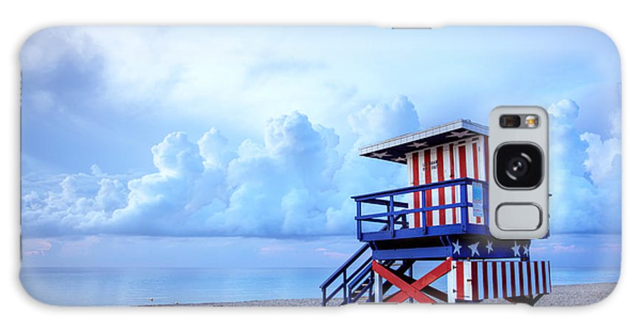 Miami Galaxy S8 Case featuring the photograph No Lifeguard On Duty by Martin Williams