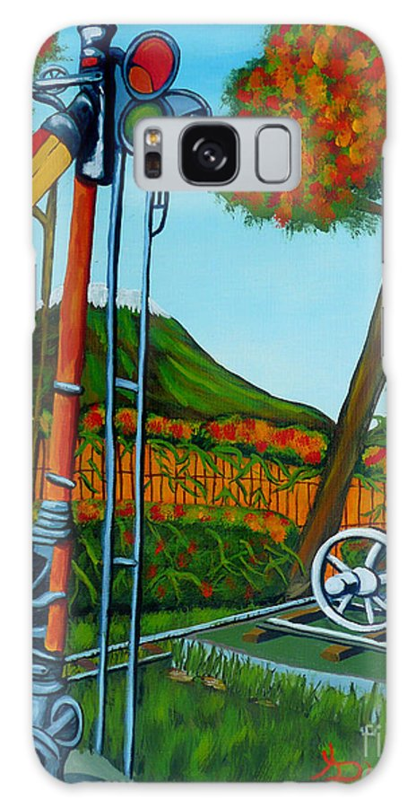 Train Galaxy Case featuring the painting No More Trains by Anthony Dunphy