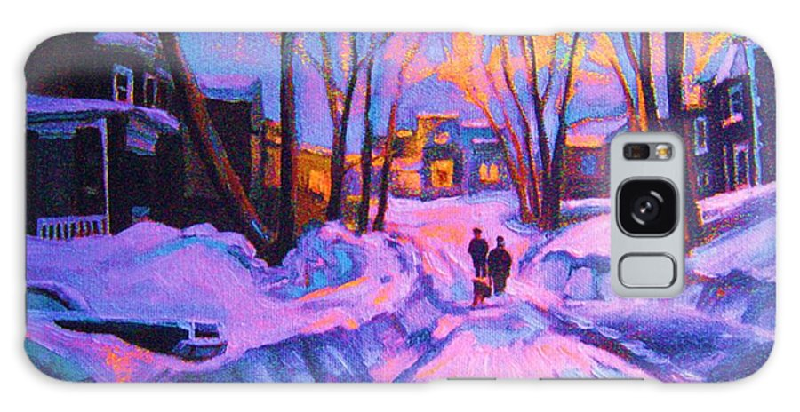 Winterscene Galaxy S8 Case featuring the painting No Sidewalks by Carole Spandau