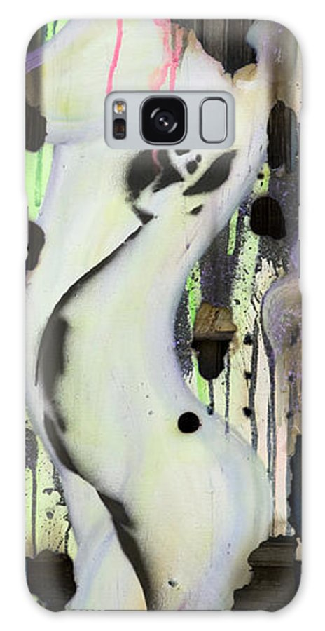 Woman Galaxy S8 Case featuring the painting No Winners In Love by Sheridan Furrer
